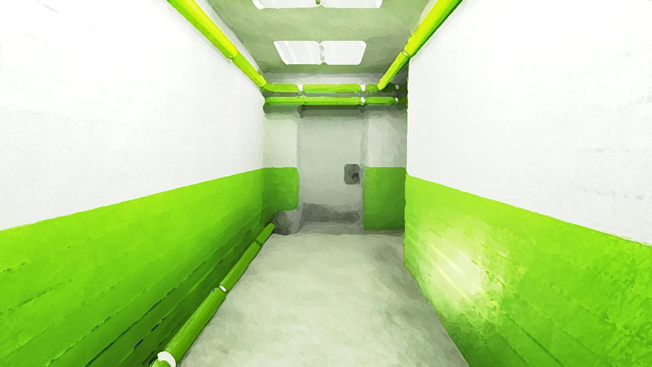 Green corridor by shadowx77 on deviantart - Wallpaper corridor ...