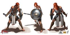 Fire Warrior Kain Character