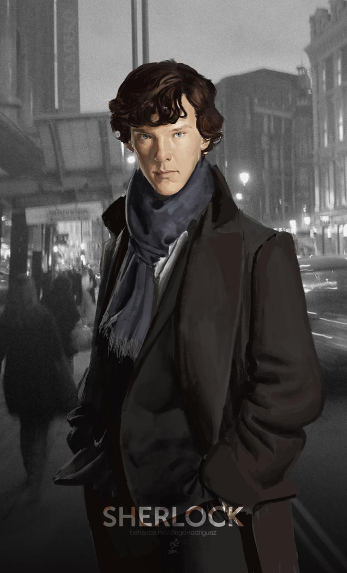 Sherlock Portrait by DHTenshi
