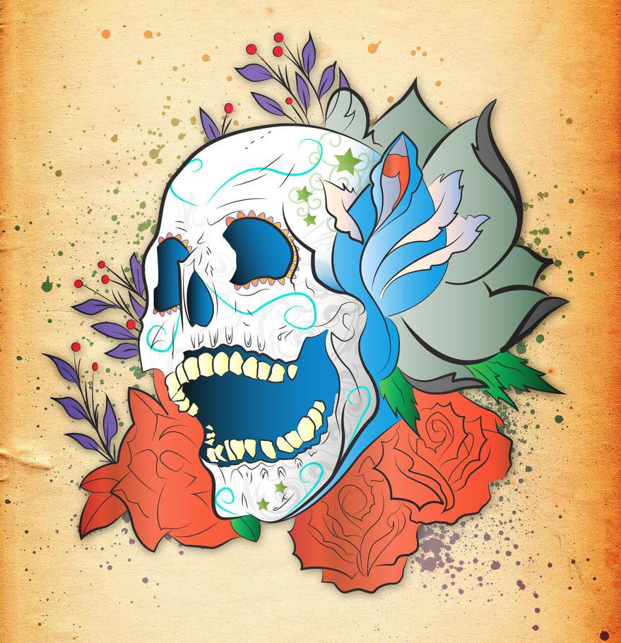 Skull Tattoo Correct Colour by utilizzo