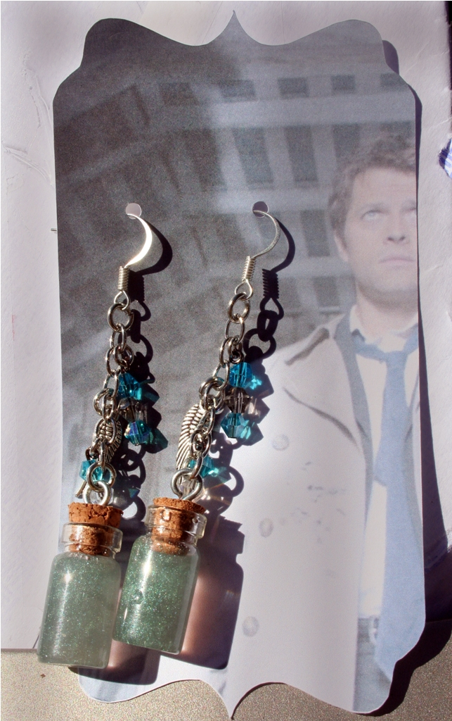 Castiel's Bottled Grace Earrings by KouranKiyo
