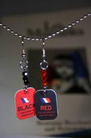 Les Mis Red and Black earrings by KouranKiyo
