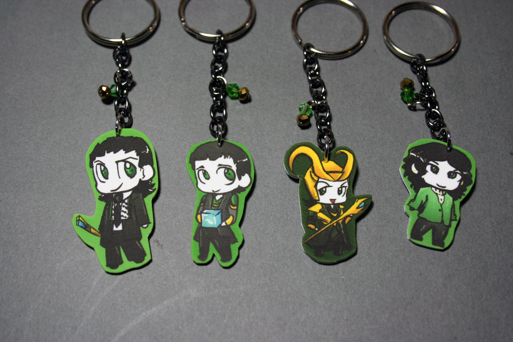 Loki Chibi Key Chain's by KouranKiyo