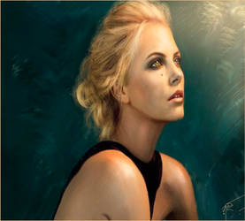 charlize theron fan art by rulartist