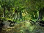 jungle matte painting