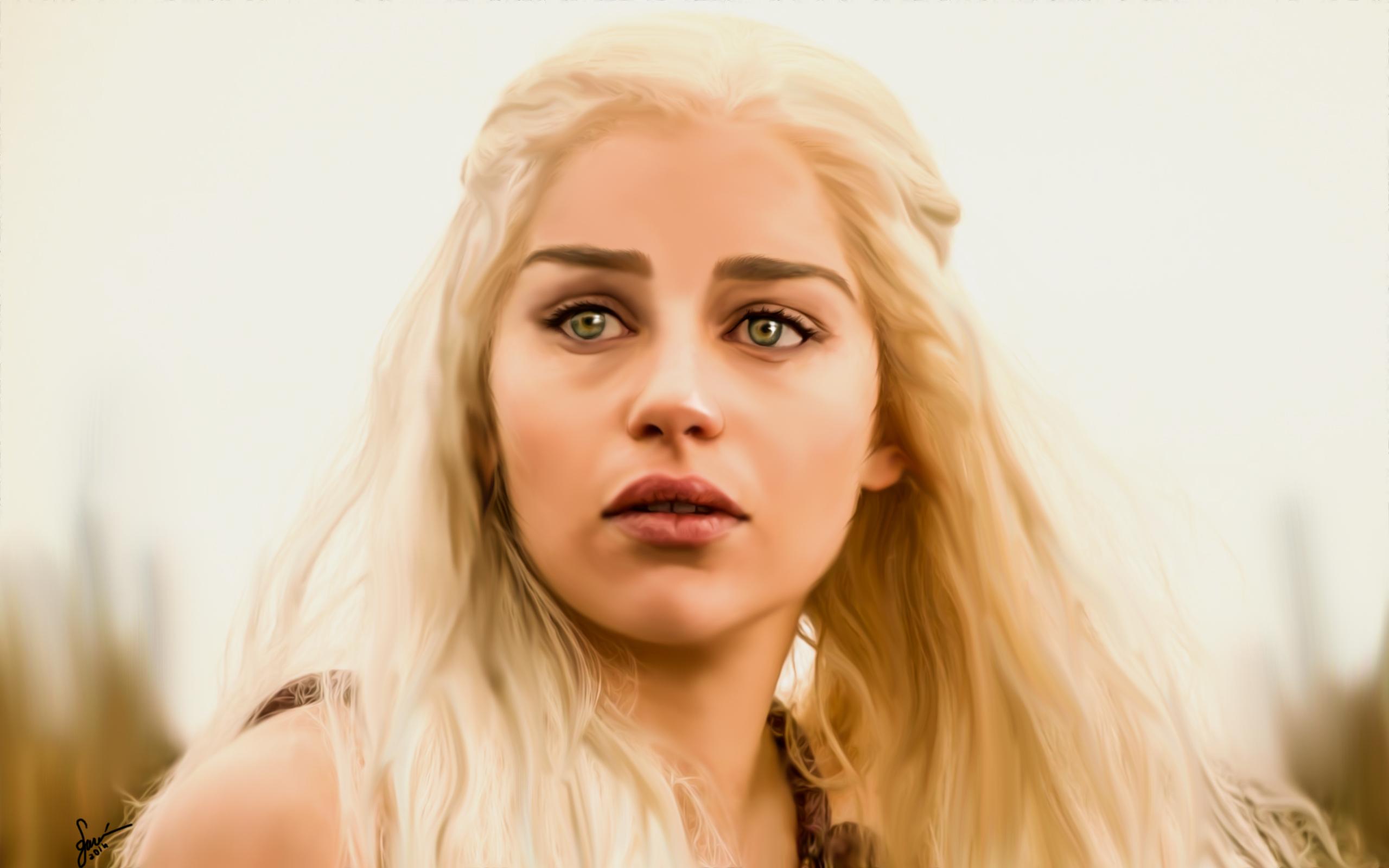 Emilia Clarke Game Of Thrones Khaleesi Daenerys Targaryen By Silagundogdu On Deviantart