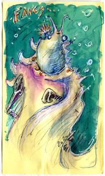 Inktober - Day 07 : Fancy Space-Slug