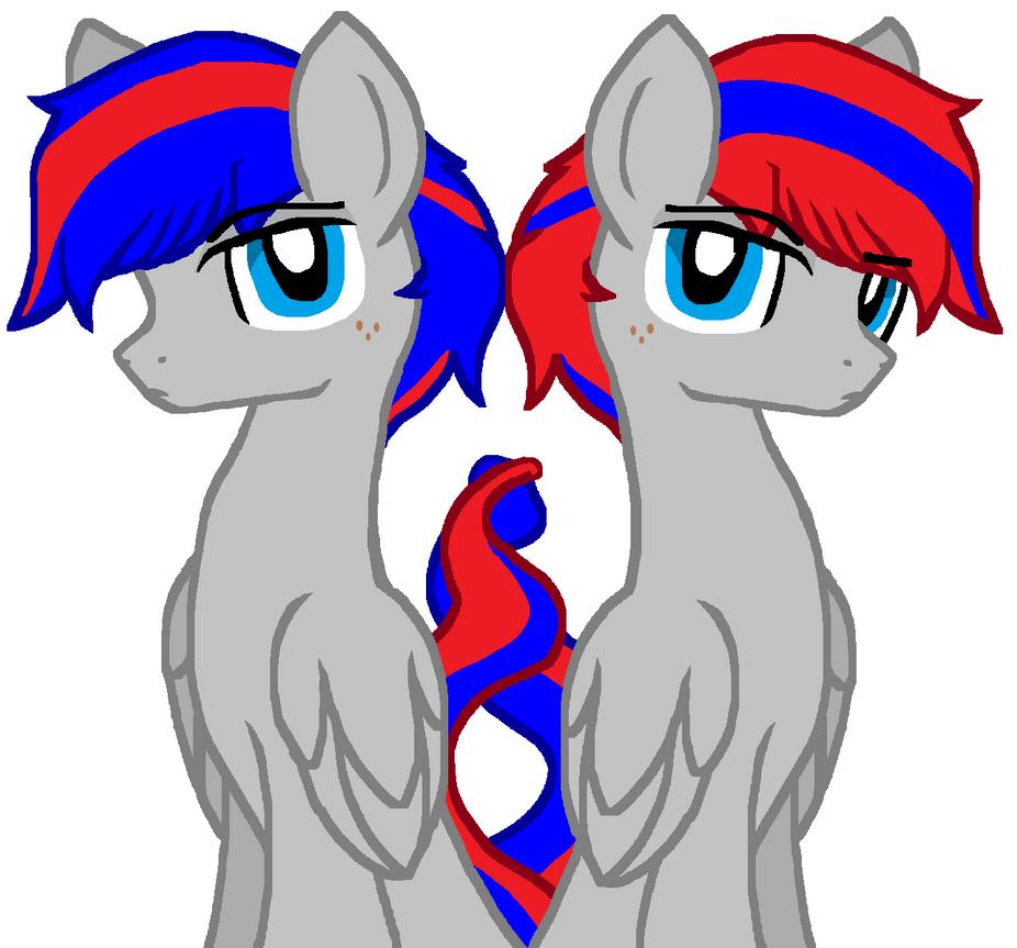 Pegasi Twins by Sketchstar-mids-sis