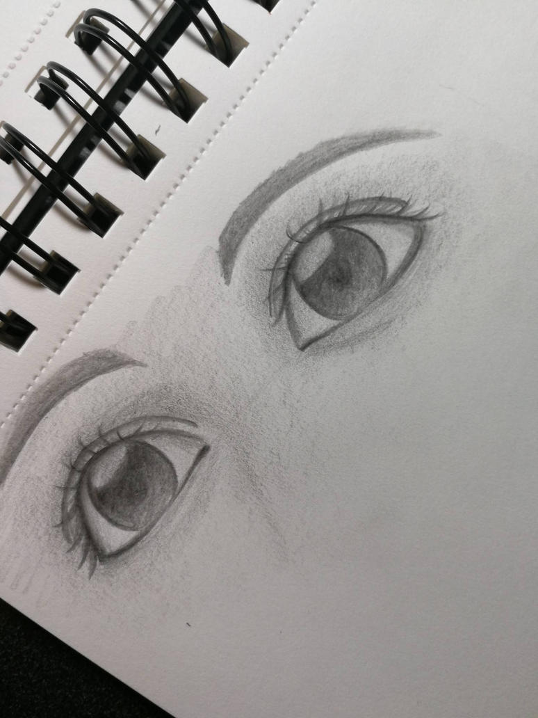 Unfinished Eyes Drawing by caelotus
