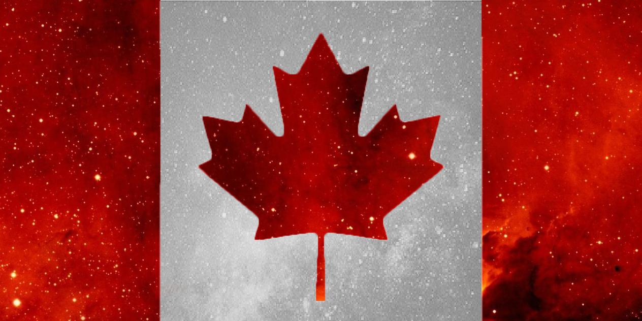 Canadian Flag (Galaxy) by asmariaz