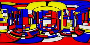 Inside a Mondrian cube