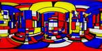 Inside a Mondrian cube by kronpano