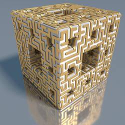 Menger maze by kronpano