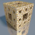 Menger maze