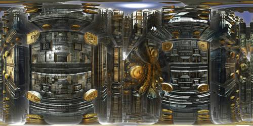Spaceship interior by kronpano