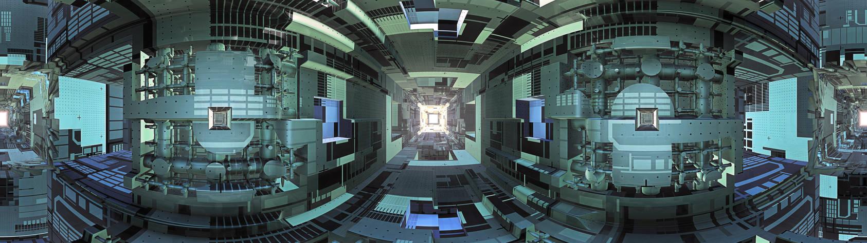 Spaceship - interior tunnel