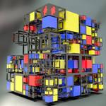 Incomplete Mondrian cube