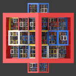 Irregular modified Menger frames by kronpano