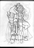 Dreiz and Vlynia by KillustrationStudios