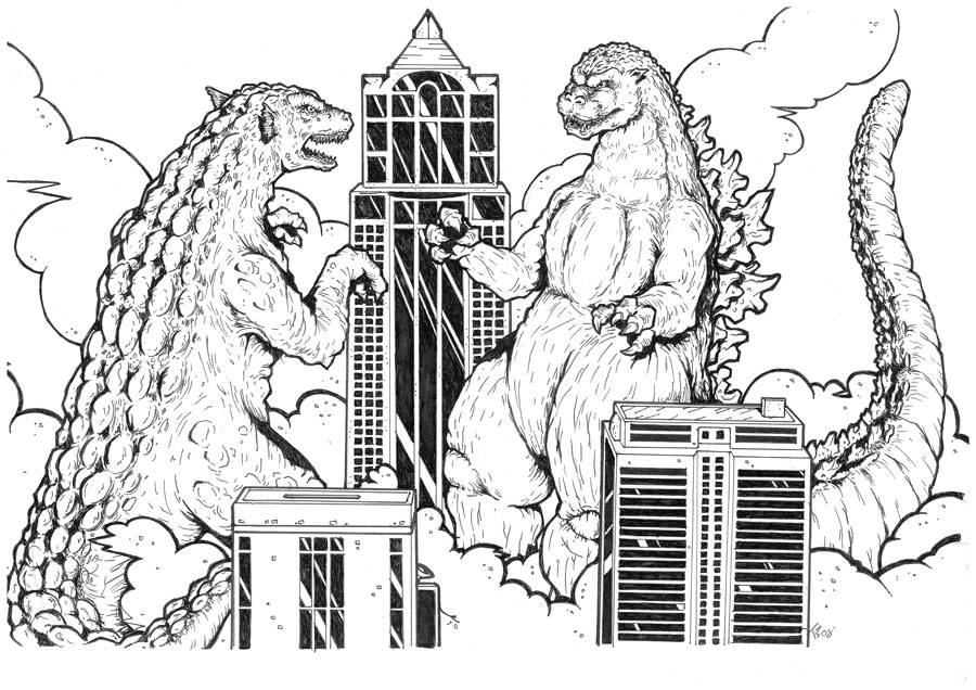 Godzilla Vs. Gorgo Promo by KillustrationStudios