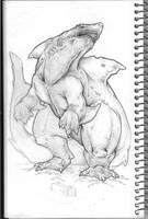 Giant Mutant Shark by KillustrationStudios