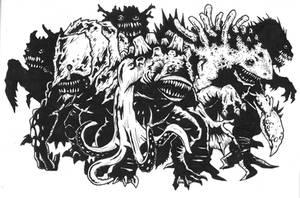 The Mongrelfish Horde by KillustrationStudios