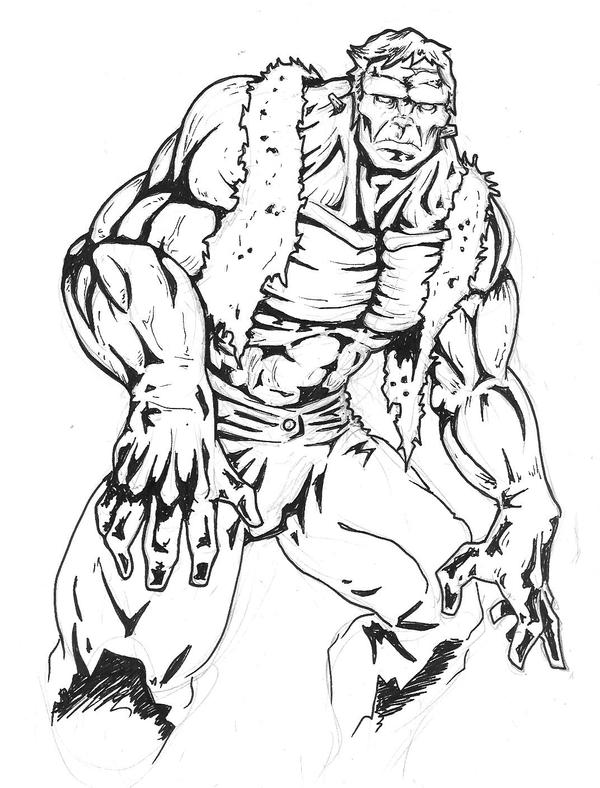Mary free coloring pages on art coloring pages - Marvel Frankenstein S Monster By Killustrationstudios On