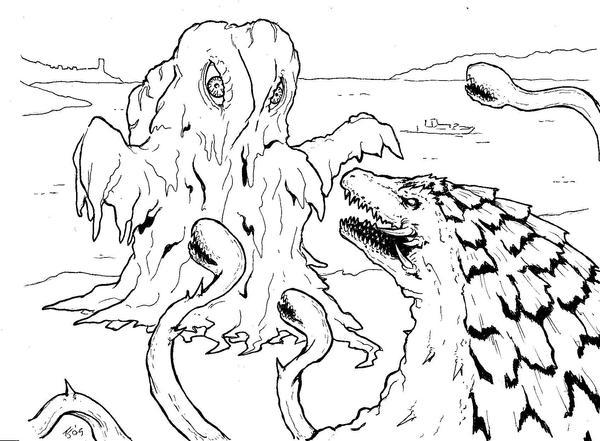 godzilla vs biollante coloring pages - photo#3
