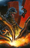Gfest '09 Godzilla Painting by KillustrationStudios