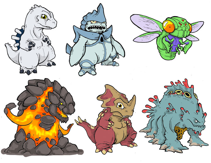 Chibi Monsters By Killustrationstudios On Deviantart