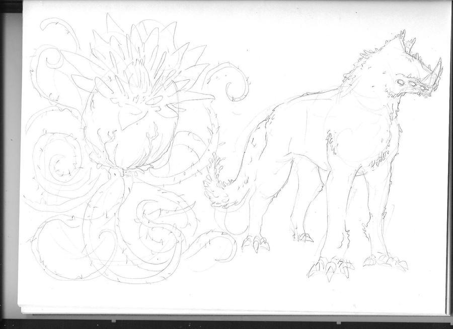 Cthulhu Monster Sketch by KillustrationStudios