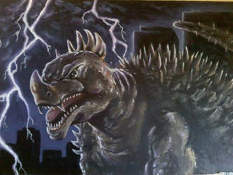 Anguirus almost done