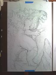 Godzilla WIP by KillustrationStudios