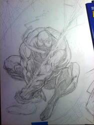 Venom Pencils WIP by KillustrationStudios