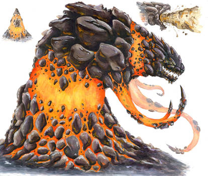 Giant Lava Monster