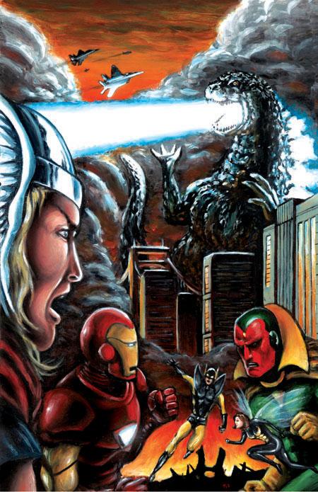 Avengers Vs. Godzilla by KillustrationStudios
