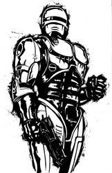 Robocop BW Pinup by KillustrationStudios