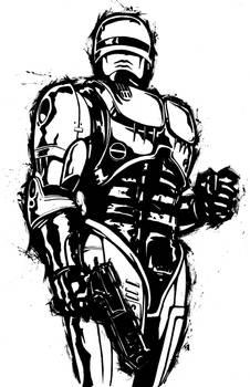Robocop BW Pinup