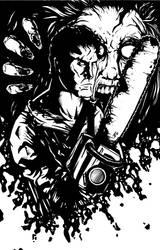 Evil Dead Ash BW Pinup by KillustrationStudios