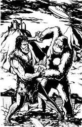 King Kong Vs Frankenstein by KillustrationStudios