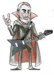 Christopher Lee, Metal at 90 Illustration