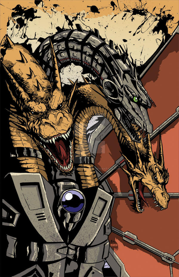 Mecha-King Ghidorah Colors by KillustrationStudios
