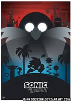 Sonic the Hedgehog Minimalist Poster by DarkoDesign