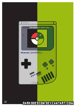 Retro Gameboy and Pokemon inspired Split Poster