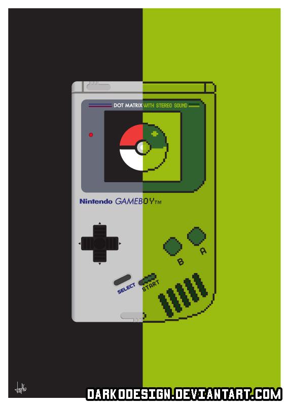 Pokemon Gameboy Wall Art by DarkoDesign