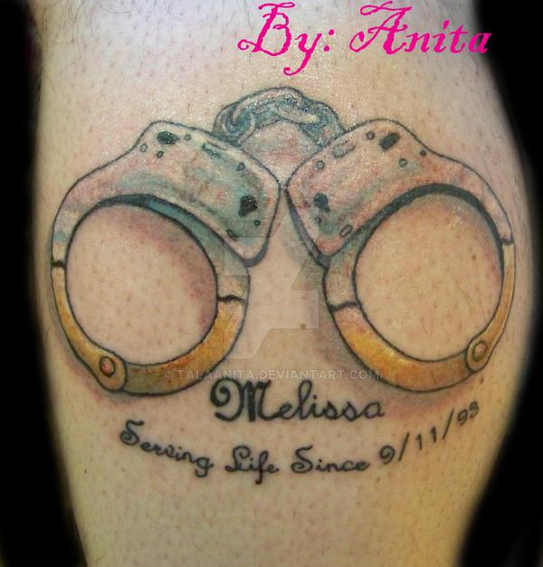 handcuffs tattoo by talaanita on deviantart rh talaanita deviantart com handcuff tattoo drawings handcuff tattoo drawings