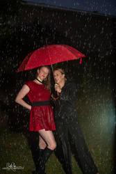 Lori and Leah in the Rain