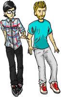 Rhett and Link by theunforgivinghills