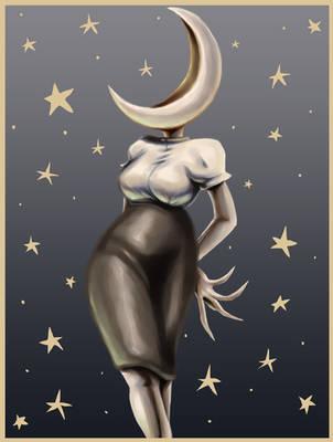 Moon Gal by Komodo-Fisher