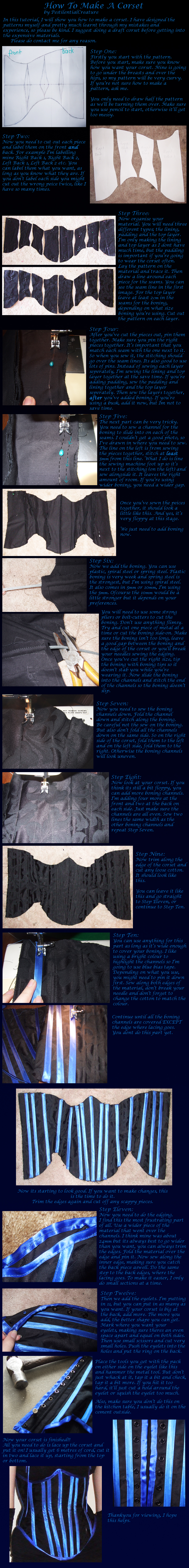 Corset Tutorial. by PestilentialCreature